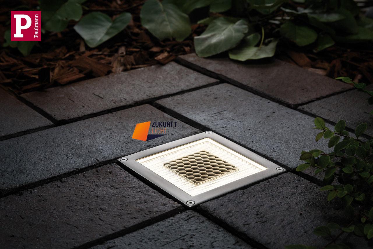 Paulmann bodeneinbauleuchten set solar cube led von for Solarleuchten garten