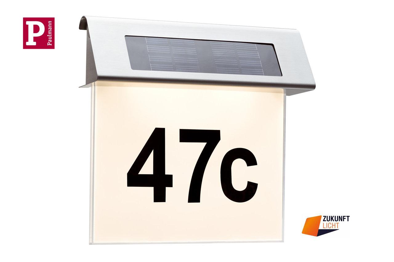 Paulmann Hausnummernleuchte Solar LED Outdoor - Zukunft-Licht