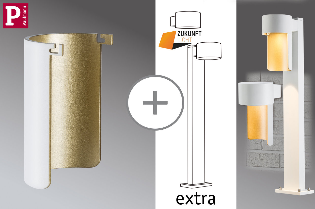Paulmann Deco Glas Special Glas Ambientled Weiß Matt Gold Alu