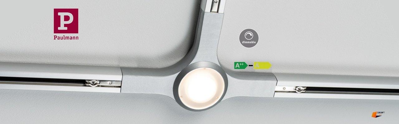 Hervorragend URail LED T Verbinder 5,8W Chrom Matt Dimmbar Neuste LED Technik 95483 AS24