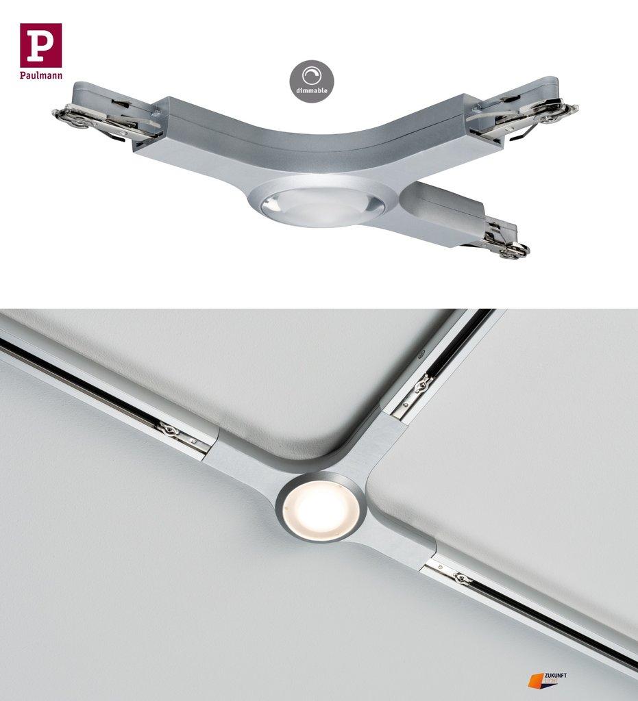 Schön URail LED T Verbinder 5,8W Chrom Matt Dimmbar Neuste LED Technik 95483 QJ48