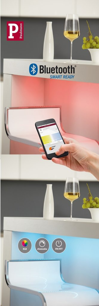 paulmann smarthome rgb led strip set flaex 5m mit bluetooth steuern ber app. Black Bedroom Furniture Sets. Home Design Ideas