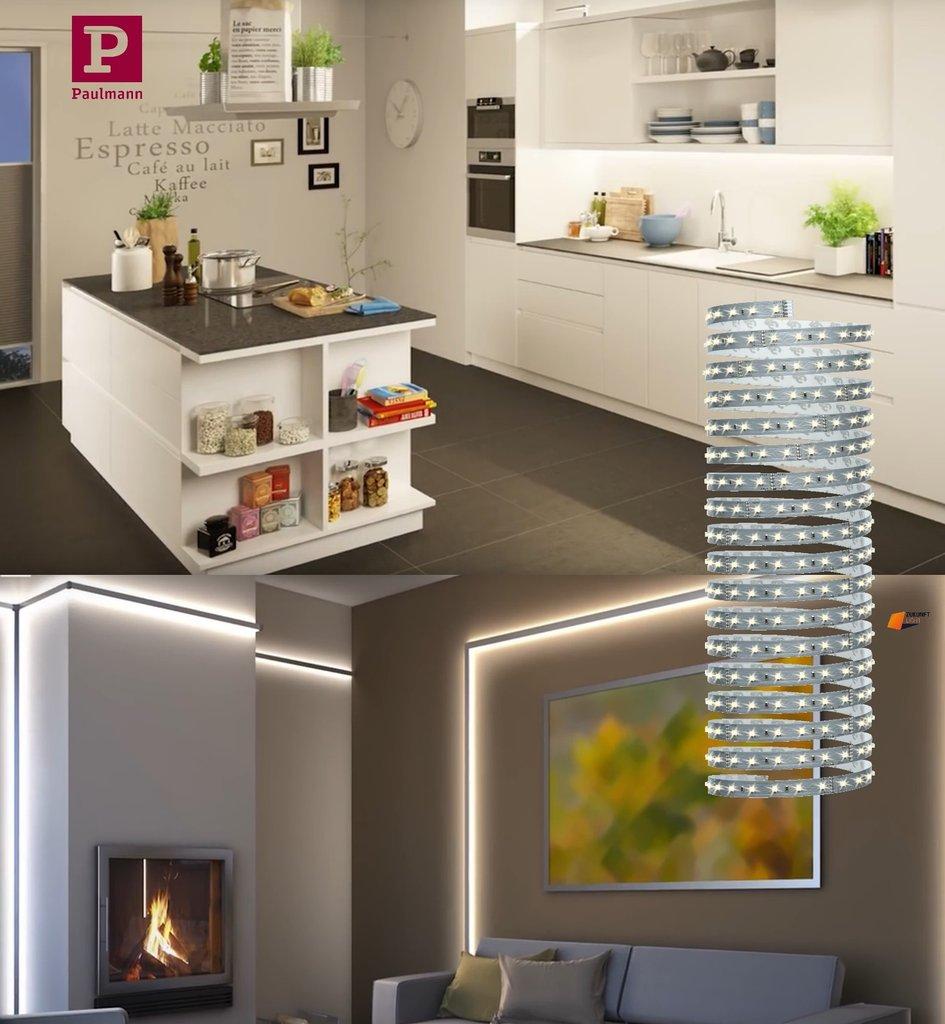 paulmann maxled stripe 500 basisset 10m 48 5w 6500k bis 20m. Black Bedroom Furniture Sets. Home Design Ideas
