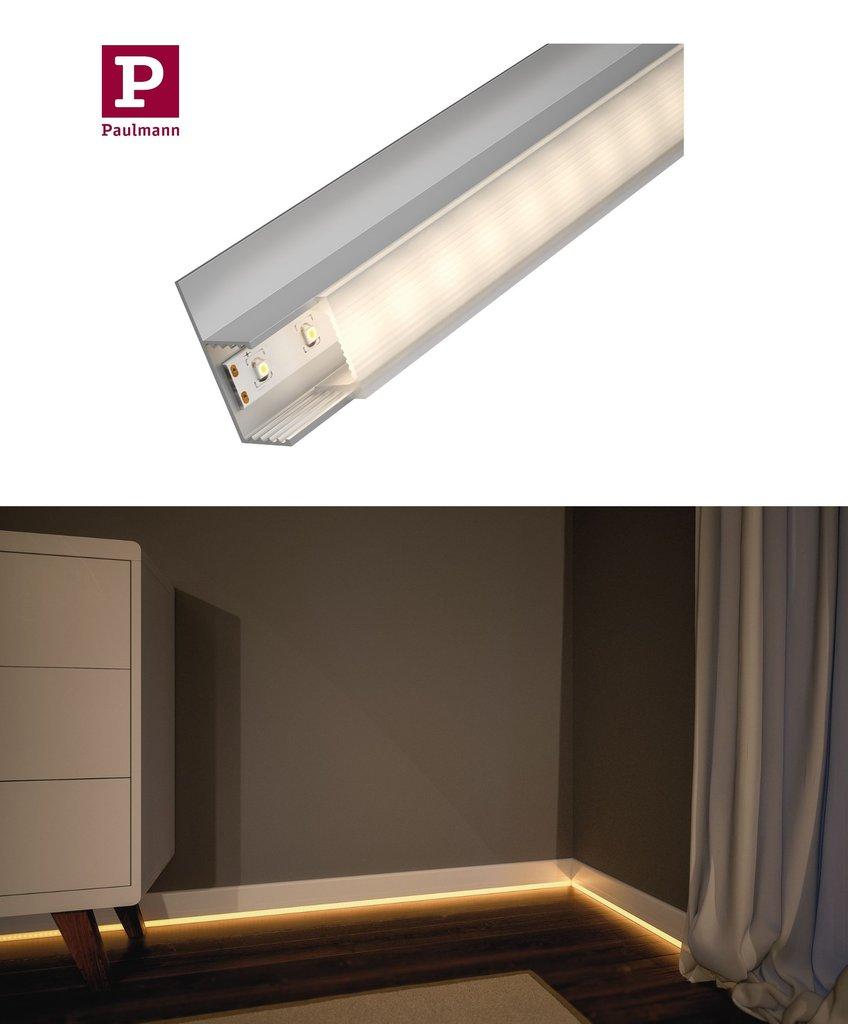 paulmann socle fu leisten profil f r led strips mit diffusor 1m. Black Bedroom Furniture Sets. Home Design Ideas